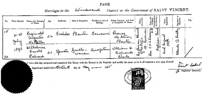 Marriage Certificate Reginald Augustus McArtney